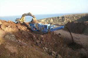Crusher and Excavator - Cape Grant